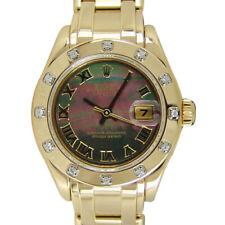 ROLEX - Ladies 18kt Gold Pearlmaster MASTERPIECE - MOP Roman - 80318 SANT BLANC