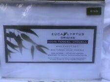 New White Eucalyptus Sheet Set King Size 300 Thread Count