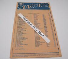 Wcfl Chicago Big 10 Countdown Top 40 Am Radio List Week of August 10, 1970