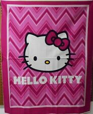 "1 Hello Kitty ""Chevron"" Wallhanging/Lap Quilt Panel  Fabric"