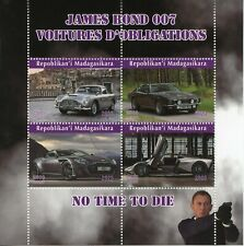 Madagascar James Bond Stamps 2020 CTO Cars Daniel Craig No Time to Die 4v M/S