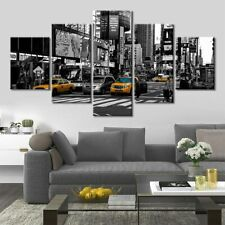 New York Street Scenery 5 Pieces Canvas Wall Art Poster Print Home Decor
