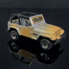 1998 Matchbox JEEP WRANGLER Camo Military Brown Gray OffRoad 4x4 Vehicle Toy Car