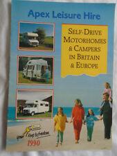 Apex Leisure Hire Self Drive Motorhomes brochure 1990