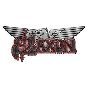 Saxon Logo Shaped Metal Pin Badge (rz)
