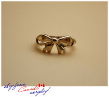 Antique Gold Color Bow Stack-able One Size Knuckle Ring