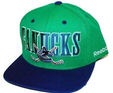 Vancouver Canucks Reebok NHL Cross Stick Logo Snapback Hockey Cap Hat OSFM