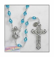 Aqua Bohemian Rosary - by Ave Maria - VERY NICE - CLOSE-OUT PRICE *