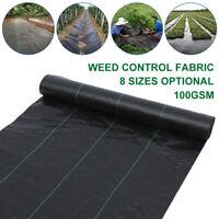 Weedmat Weed Control Mat Matting Woven Fabric Plant PE Garden Cover 1/2/5m