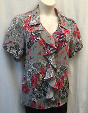 Size 18 Blouse Shirt Top Short Sleeve Work Smart Casual Evening Dinner FREE POST