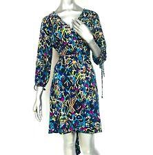12940db0 Nicole Miller Faux Wrap Dress size XL 3/4 sleeve Career Cocktail Stretch  sheath