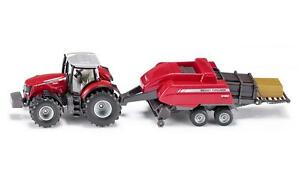 NEW FARMER SIKU 1951 Ferguson MF8690 Tractor & Baler 1:50 Diecast Model Vehicle