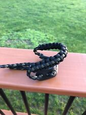 Archery Paracord Wrist Sling With Leather Yoke. Thin green line. Military