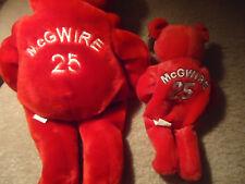 LOT of 2 Mark McGwire Beanie Babies Salvino Slammers MLB 1 Large 1 Small