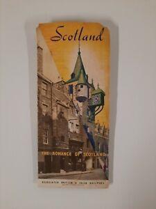 SCOTLAND 1939 BRITISH IRISH RAILWAYS brochure Map RAILROADIANA  Travel ANTIQUE