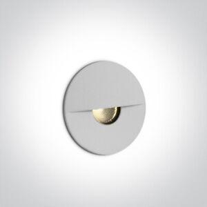One Light 68070 Step Marker Light Recessed Wall Light 1W Outdoor/Indoor IP65