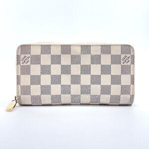 LOUIS VUITTON purse N60019 Zippy wallet Damier Azur Canvas unisex