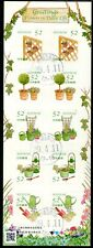 Japan 2016 52y Flowers in Daily Life Sheet of 10 Fine Used