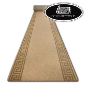Modern Runner Sisal Floorlux Frame Aztec Beige Width 70 - 120 CM Fashionable