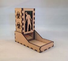 Zombie Dice Tower Green Acrylic Window Laser Cut MDF v1