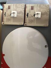 Round 2 Pin Bathroom Light Lighting Unit With 2 GE 16w Bulbs