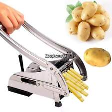 Stainless Steel French Fry Potato Cutter Maker Slicer Chopper Dicer 2 Blade
