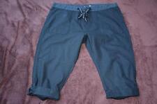 RIVERS Size 20 Black CROP PANTS Leg Cuff ADJ.HEM rrp$49.95 NEW Linen/Cotton.