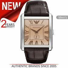 Emporio Armani Classic Men's Watch AR1641│Roman Numeral│Amber Rectangle Dial