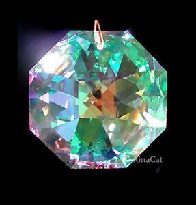 Swarovski 8115 28mm Octagon Crystal Clear AB Pendant Prism Suncatcher w Logo