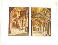 Stampa antica Basilica di San Marco a VENEZIA 1920 Old antique print VENICE