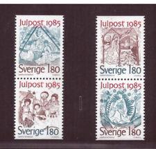 Sweden MNH 1985 Art,Christmas Mail,Religion   set mint stamps