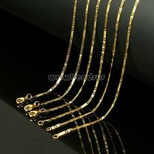 "Unisex Women Men Gold Plated Stainless Steel Figaro Chain Necklace 20"" New"