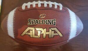 Spalding Leather Football  Alpha. Used