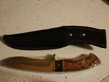 FIXED BLADE KNIFE WITH BLACK SHEATH  NEW