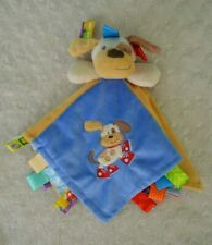 Taggies Puppy Dog Lovey Security Blanket Blue Red Tan Sneakers Mary Meyer Baby
