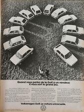 PUBLICITÉ DE PRESSE 1977 VOLKSWAGEN GOLF LA VOITURE UNIVERSELLE