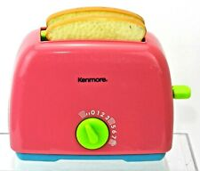 TOY POP UP TOASTER Kitchen APPLIANCE Pretend Play FOOD w/ Toast Kenmore