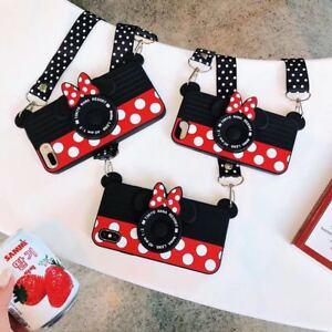 Cartoon Disney Minnie Camera Soft Phone Case Cover For iPhone 12 Pro Max 11 SE 8
