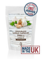 Odourless Garlic 1000mg Oil Extract Softgel Capsules UK Supplements