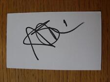 50's-2000's Autographed White Card: Smithies, Alex - Huddersfield Town