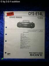 Sony Service Manual CFS E14L Cassette Recorder (#1039)