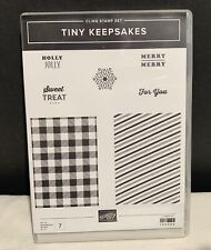 Stampin Up TINY KEEPSAKES Gift Present Christmas Holiday Rubber Stamps Set