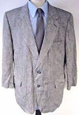 Versini Men's Sport Coat Jacket Silk Pinstripe Two Button Size 46R 46 Regular