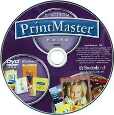Printmaster 18 Platinum PC Windows XP Vista 7 8 10 New DVD-ROM