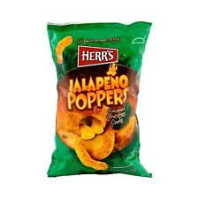 4 BAGS! Herr's Jalapeno Popper Cheese Curls PA Snack YUM! Free Ship!