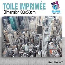 80x50cm - TOILE IMPRIMÉE - TABLEAU MODERNE DECORATION MURALE - NEW YORK - NY-10T