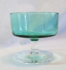 Cristal D'Arques Durand Cavalier Green Champagne Sherbet(s)