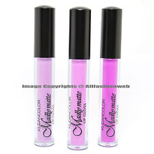 KLEANCOLOR 3 SHADES MADLY MATTE LIP GLOSS FRENCH LILAC LIGHT COLLECTION LIQUID