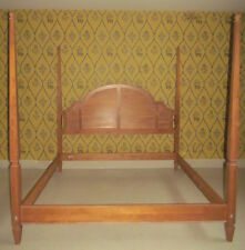 Ethan Allen Swedish Home Blonde King Poster Bed 10 5632