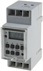 digitale Wochen Zeitschaltuhr für Schalttafel Einbau 230V 16A Hutschiene 3500W